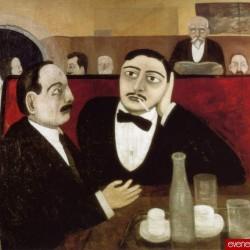 Tullio Garbari, 'Intellectuels à la Rotonde'