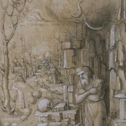Bernardino Butinone, Saint Jérôme dans le désert avec saint François