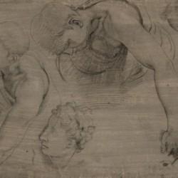 Francesco Salviati, Etude de figures