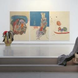 Vue de l'exposition Raad o Bargh : 17 artistes iraniens, 2009