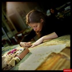 Travail sur la tapisserie d'Artémise