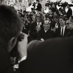 Abbas Kiarostami (à droite) - Cannes 2007