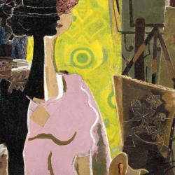 Femme à la palette, George Braque. Exposition au Grand Palais du 18 septembre au 6 janvier 2014