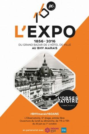 1856-2016 : du Grand Bazar de l'Hôtel de Ville au BHV Marais