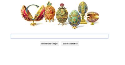 Google rend hommage à Fabergé