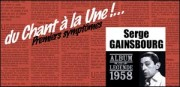 SERGE GAINSBOURG, ALBUM 'DU CHANT A LA UNE', 1958