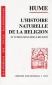 Histoire naturelle de la religion ...